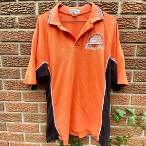 Orange Black Hill Motor Classics Polo Tee